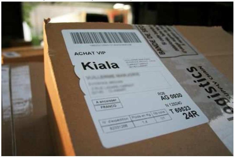 etiquette retour kiala
