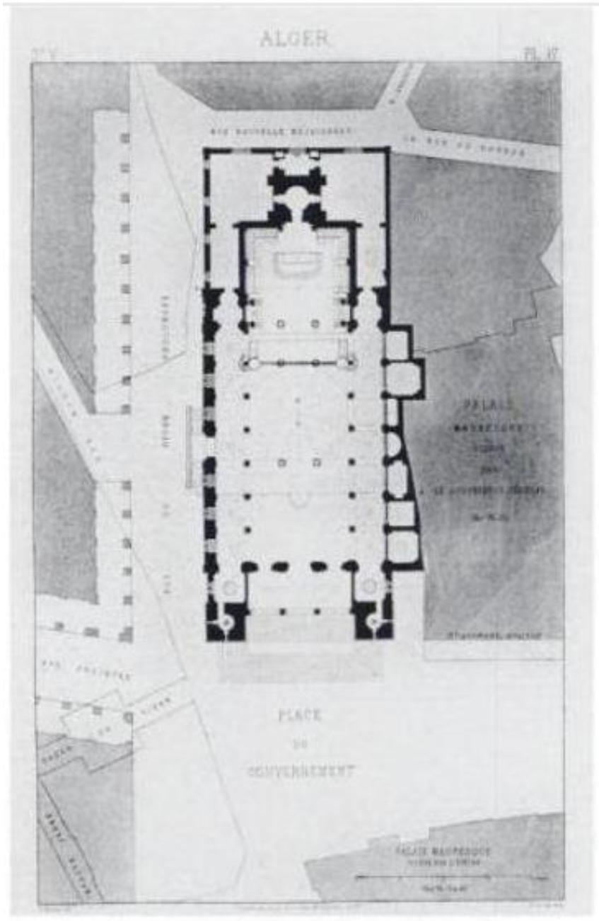 Figure 5 CONVERSION DES LIEUX DE CULTE A ALGER DU XVIIIEME AU XXEME SIECLE  CAS DE LA MOSQUEE CATHEDRALE KETCHAOUA
