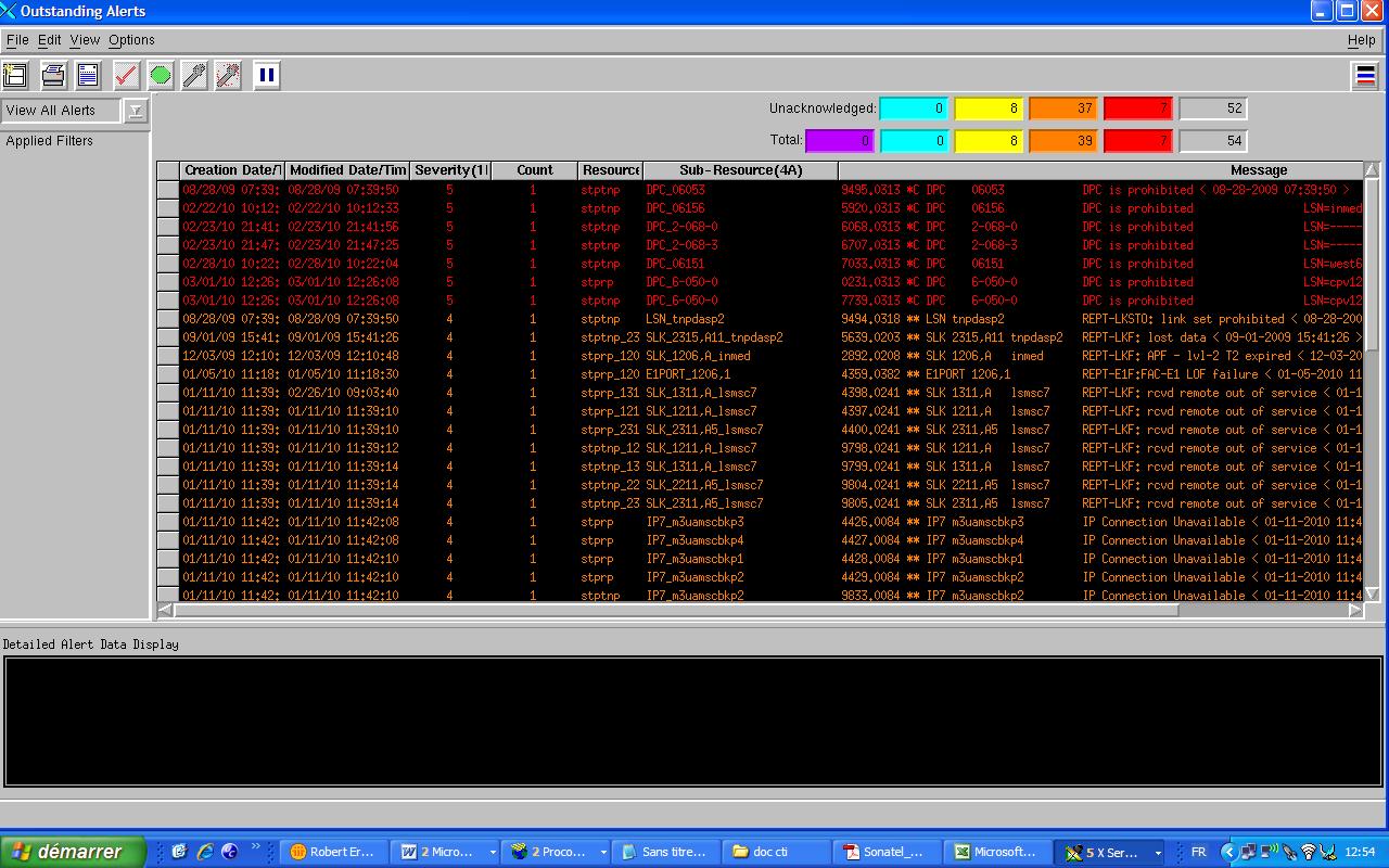 interface utilisateur du STP, NETBOSS