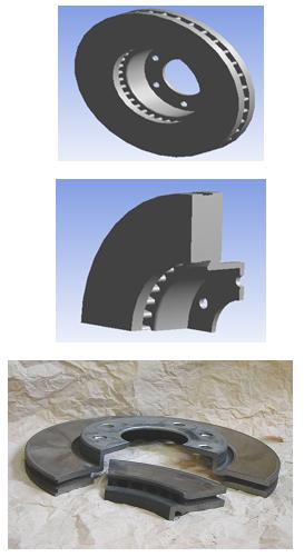 Exemple de disque ventilé