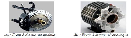 Exemples de freins à disque
