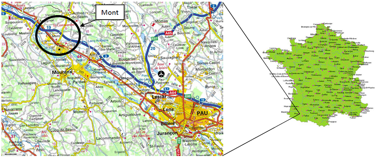 Localisation géographique du site d'étude