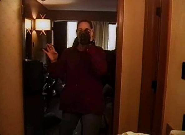 The Blair Witch Project Heather filme la chambre d'hôtel