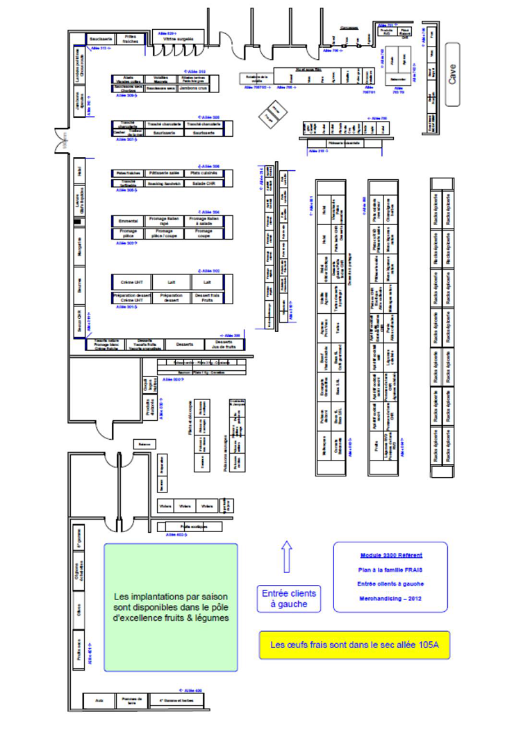 Le plan de l'entrepôt