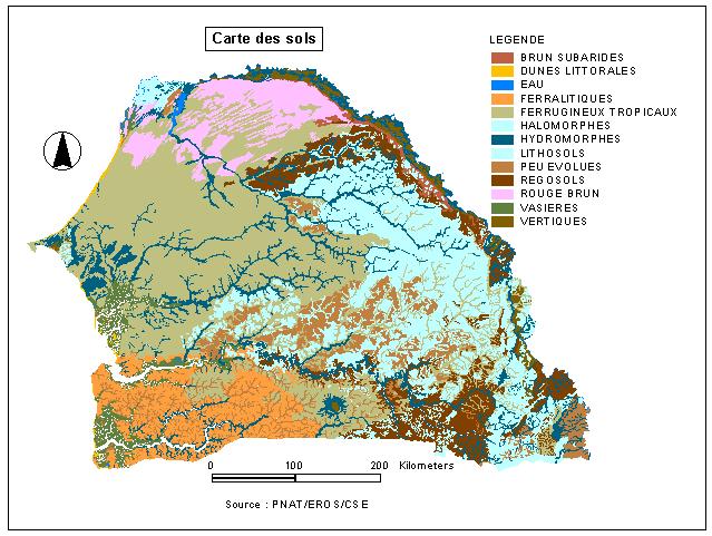 Les sols du Sénégal