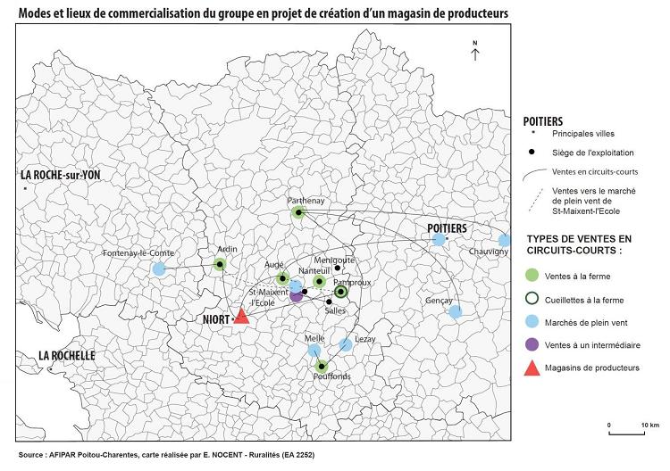 Modes et lieux de commercialisation du groupe en Projet de création d'un magasin de producteurs (Pays Haut Val de Sèvre)
