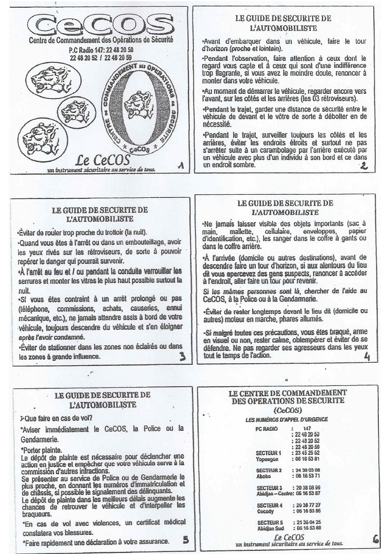 LISTE DES PUBLICATIONS DU CeCOS