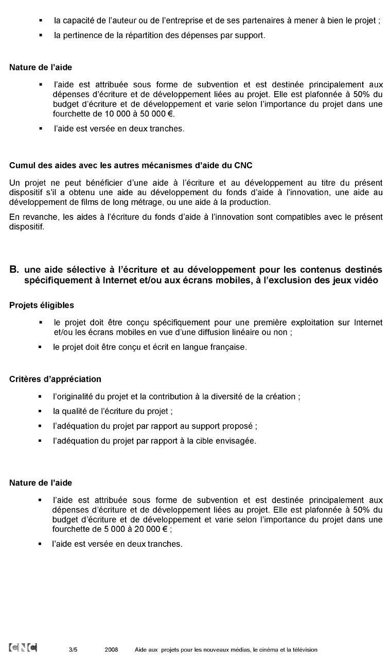 Annexe 11 Création d'une société de production de web documentaires et développement de la collection « Dans les coulisses…. » 3