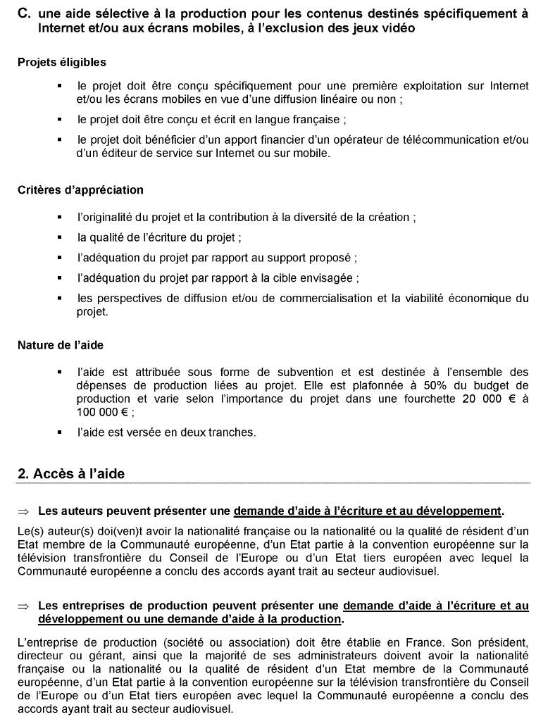 Annexe 11 Création d'une société de production de web documentaires et développement de la collection « Dans les coulisses…. » 4