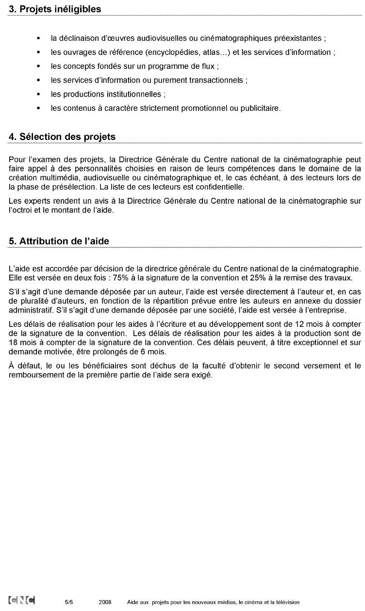Annexe 11 Création d'une société de production de web documentaires et développement de la collection « Dans les coulisses…. » 5