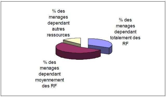 Figure 12 Etude de la contribution des ressources naturelles aux budgets des ménages ruraux  Cas du village BANGA (République Centrafricaine)