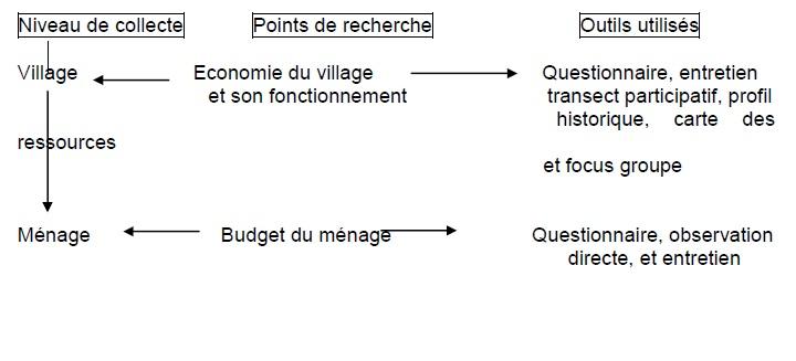 Figure 2 Etude de la contribution des ressources naturelles aux budgets des ménages ruraux  Cas du village BANGA (République Centrafricaine)