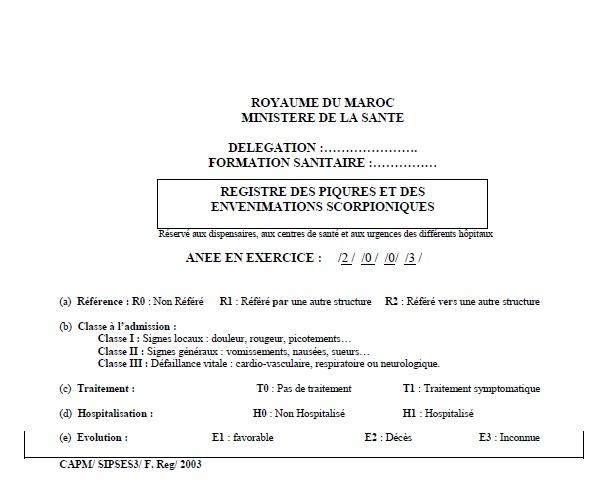 Annexe 2 Scorpionisme, Epidémiologie et Facteurs de Risque au Maroc  cas de la province de Khouribga