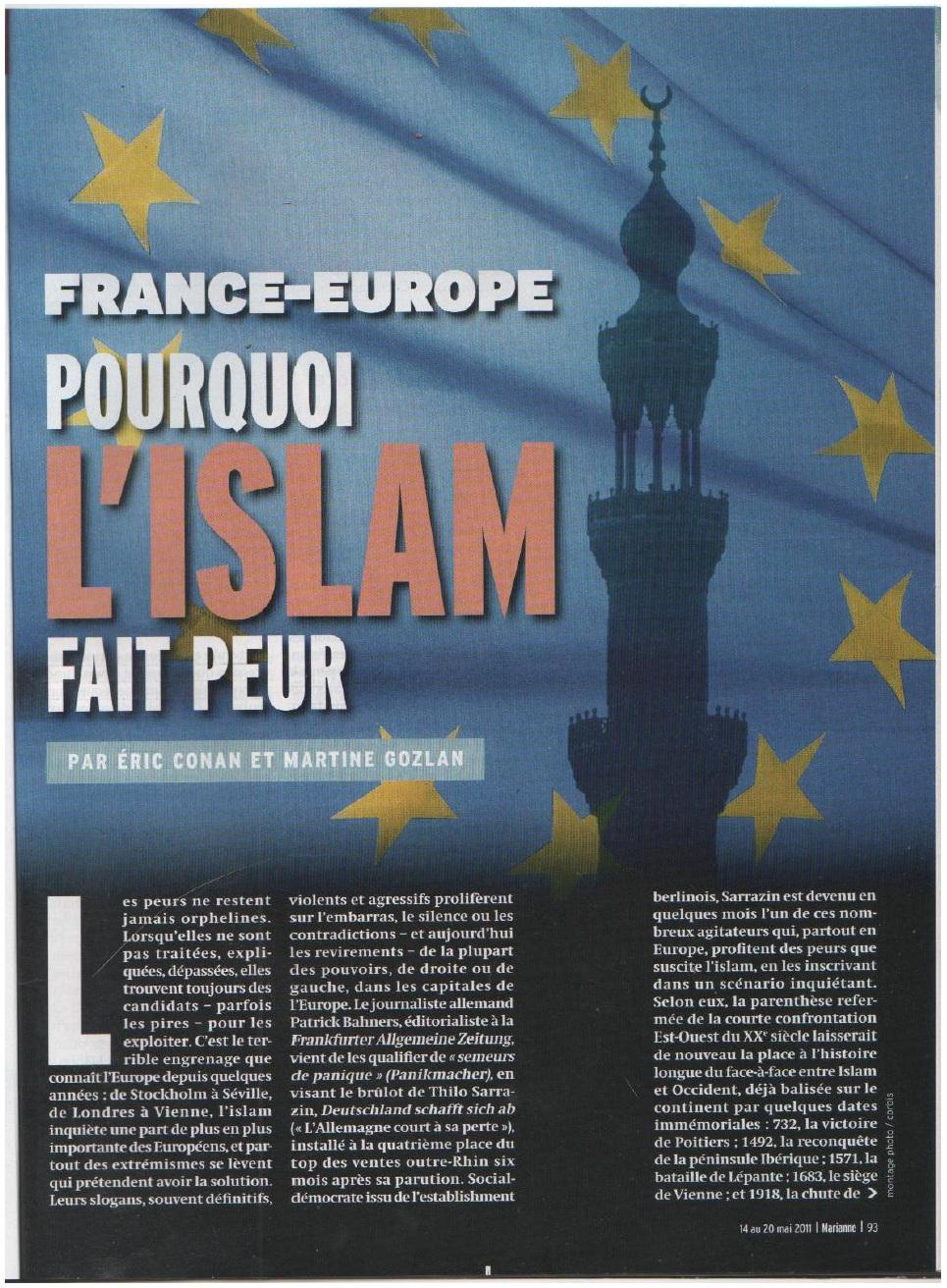 Annexe 4 Les médias, vecteurs d'une image négative et stéréotypée des musulmans mythe ou réalité 1