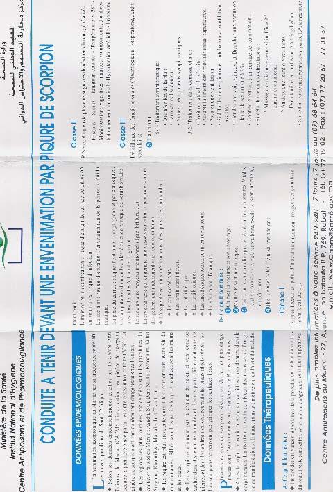 Annexe 4 Scorpionisme, Epidémiologie et Facteurs de Risque au Maroc  cas de la province de Khouribga
