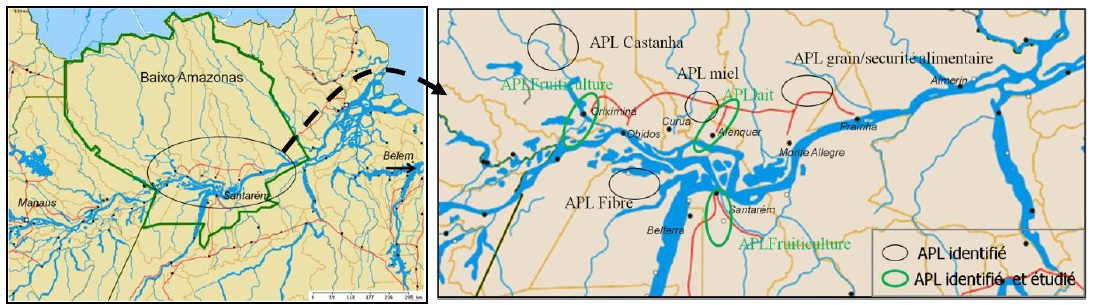 Figure 10 Le développement territorial en Amazonie Brésilienne  Les défis de la mise en oeuvre d'une gouvernance et de stratégies de développement dans le territoire Baixo Amazonas de l'État du Pará