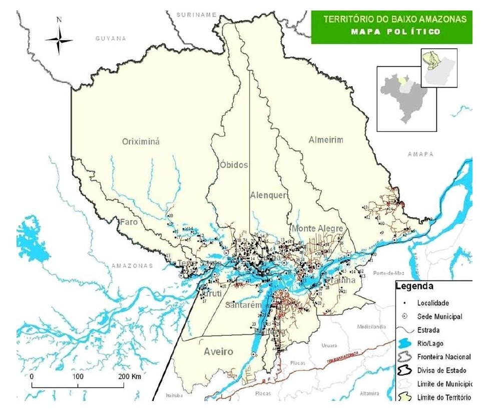 Figure 2 Le développement territorial en Amazonie Brésilienne  Les défis de la mise en oeuvre d'une gouvernance et de stratégies de développement dans le territoire Baixo Amazonas de l'État du Pará