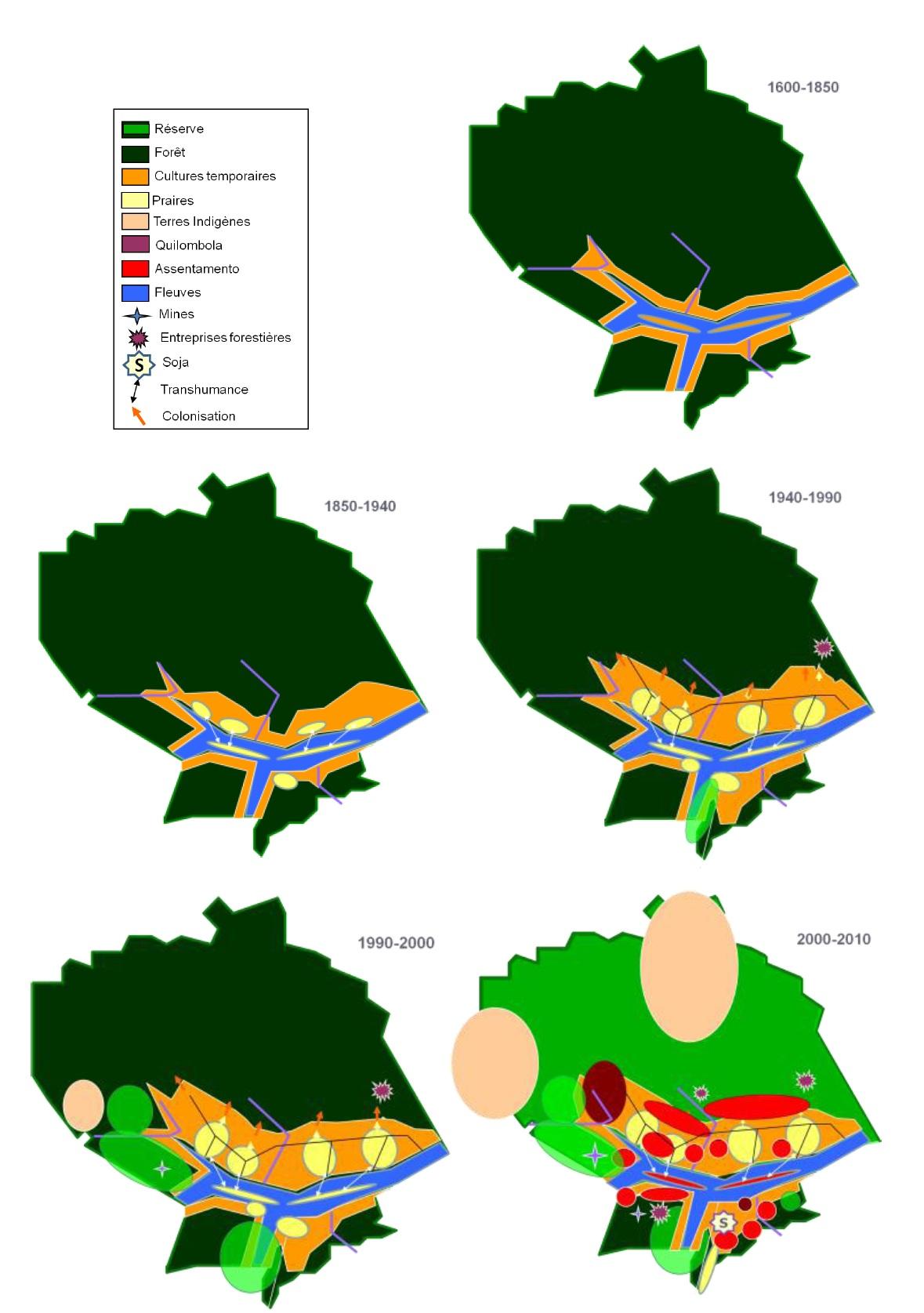 Figure 3 Le développement territorial en Amazonie Brésilienne  Les défis de la mise en oeuvre d'une gouvernance et de stratégies de développement dans le territoire Baixo Amazonas de l'État du Pará