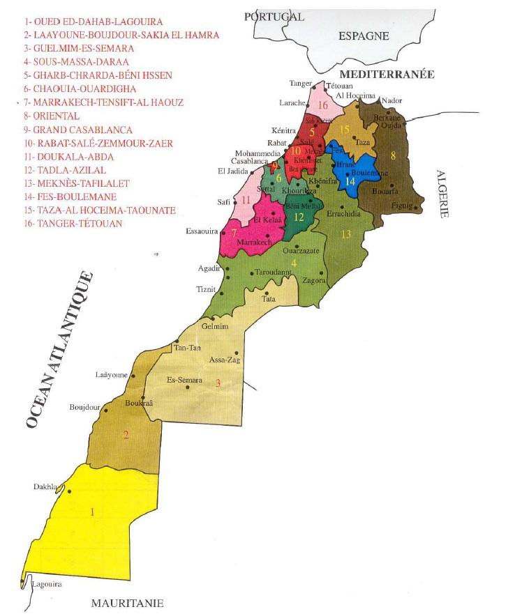 Figure 46 Scorpionisme, Epidémiologie et Facteurs de Risque au Maroc  cas de la province de Khouribga