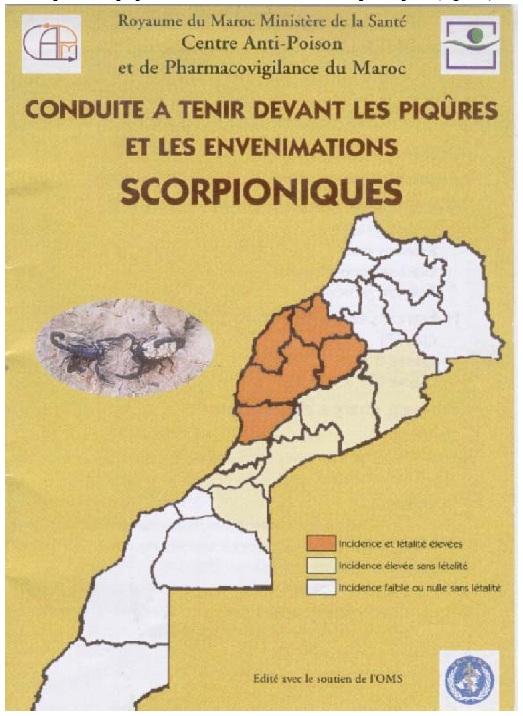 Figure 47 Scorpionisme, Epidémiologie et Facteurs de Risque au Maroc  cas de la province de Khouribga
