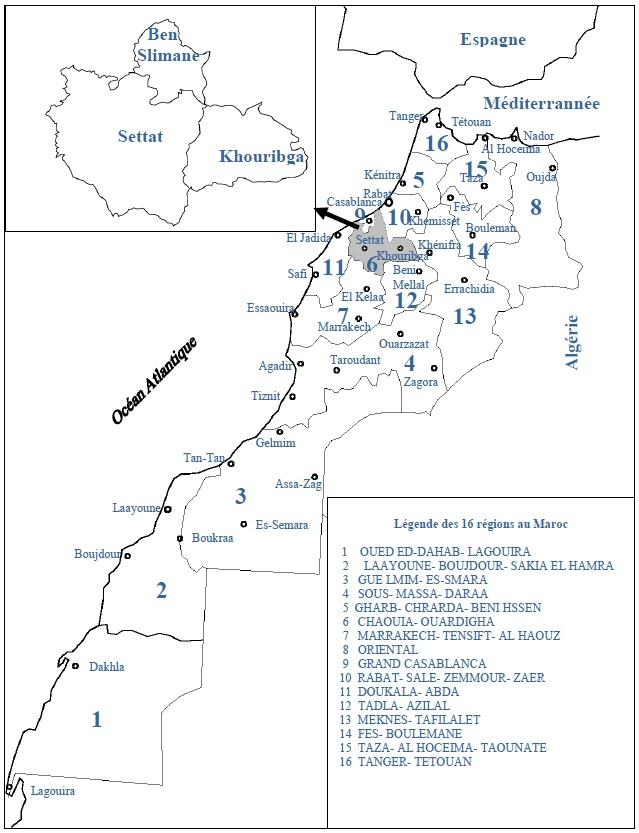 Figure 48 Scorpionisme, Epidémiologie et Facteurs de Risque au Maroc  cas de la province de Khouribga