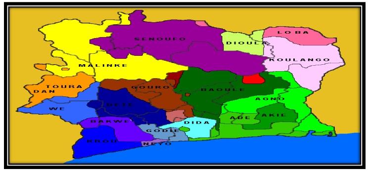 Carte Les enjeux de la transition politique et humanitaire le cas de la crise politico-militaire et postélectorale en Côte d'Ivoire 2