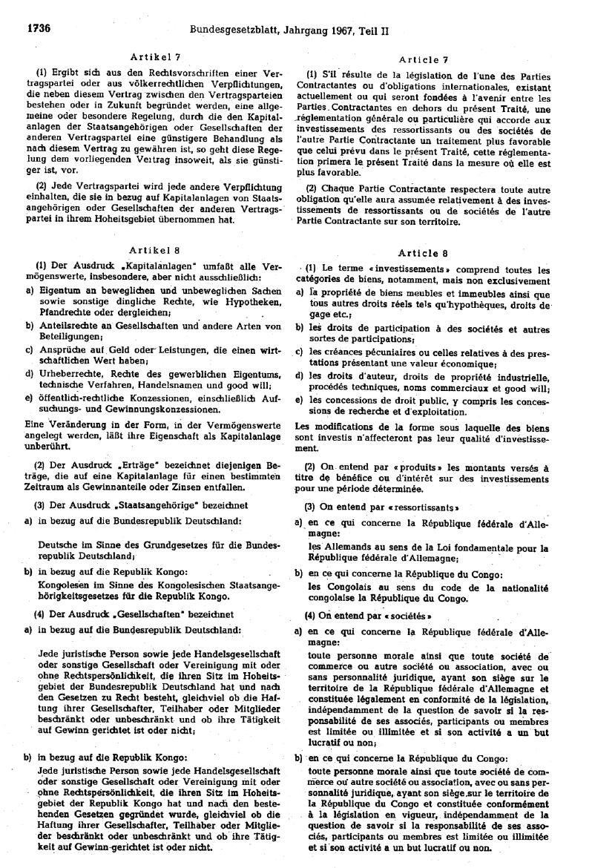 Annexe 12 Le traité bilatéral d'investissement entre le Congo et le Royaume-Uni 3