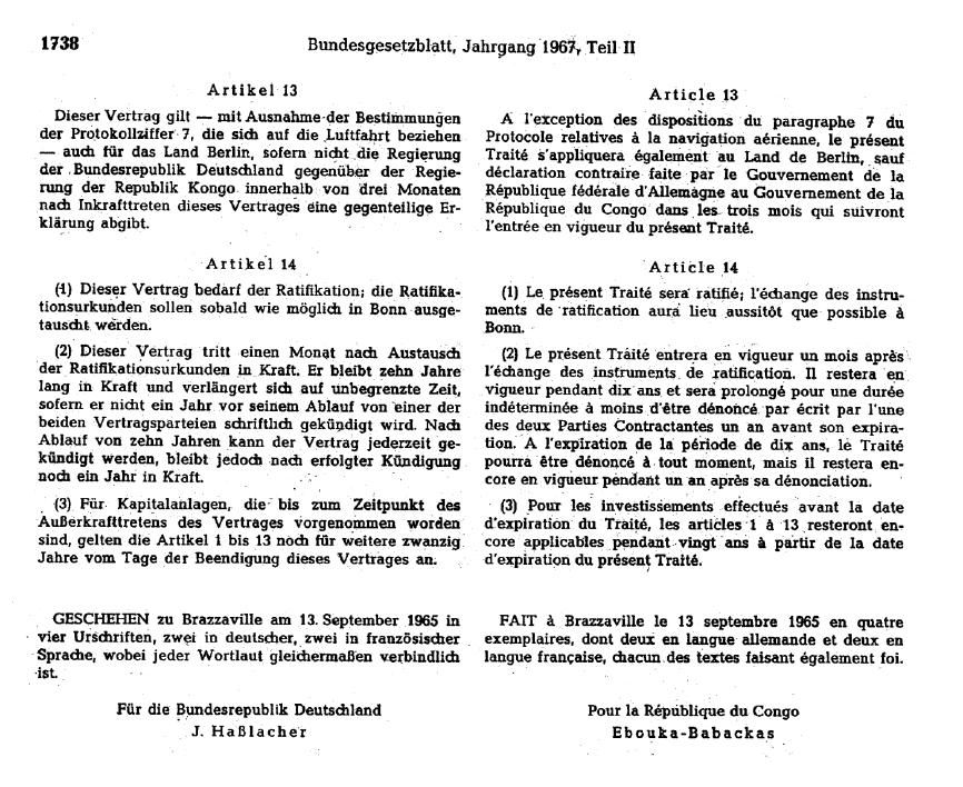 Annexe 12 Le traité bilatéral d'investissement entre le Congo et le Royaume-Uni 5