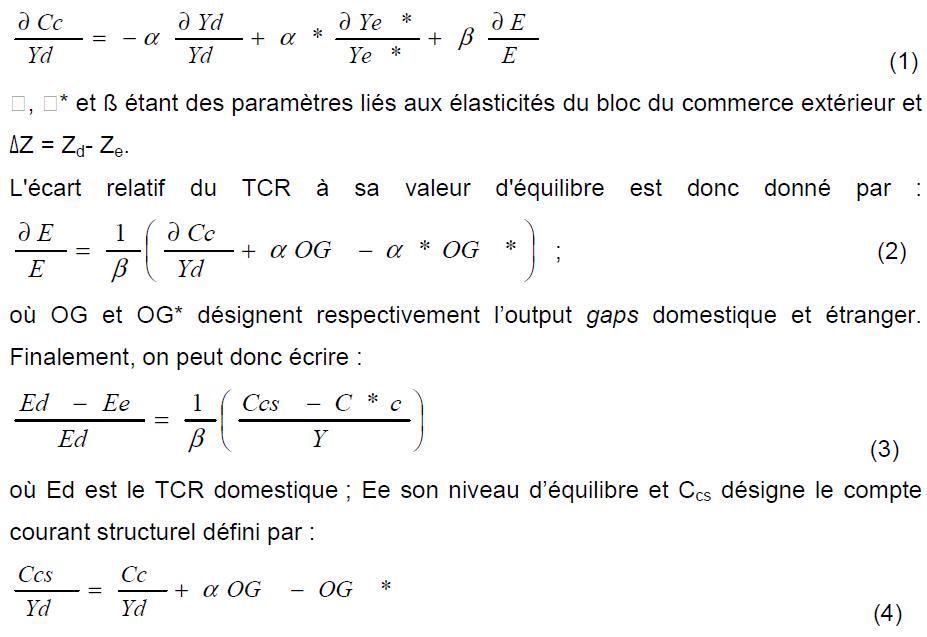 Formule Taux de change réel d'équilibre et évolution de ses fondamentaux dans l'UEMOA 1