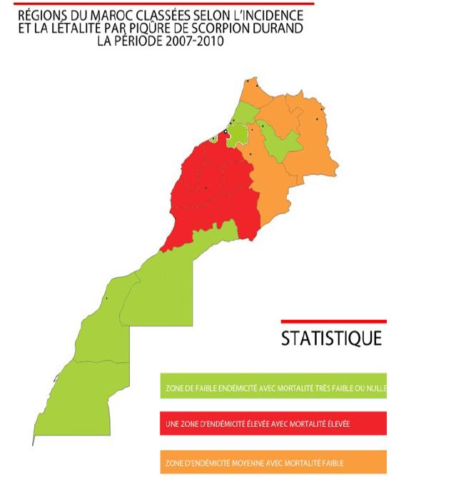 Figure 9 Les envenimations scorpioniques au Maroc