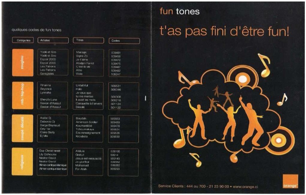 Tableau 15 Stratégie Marketing pour une vente efficiente de Funtones d'Orange Côte d'Ivoire