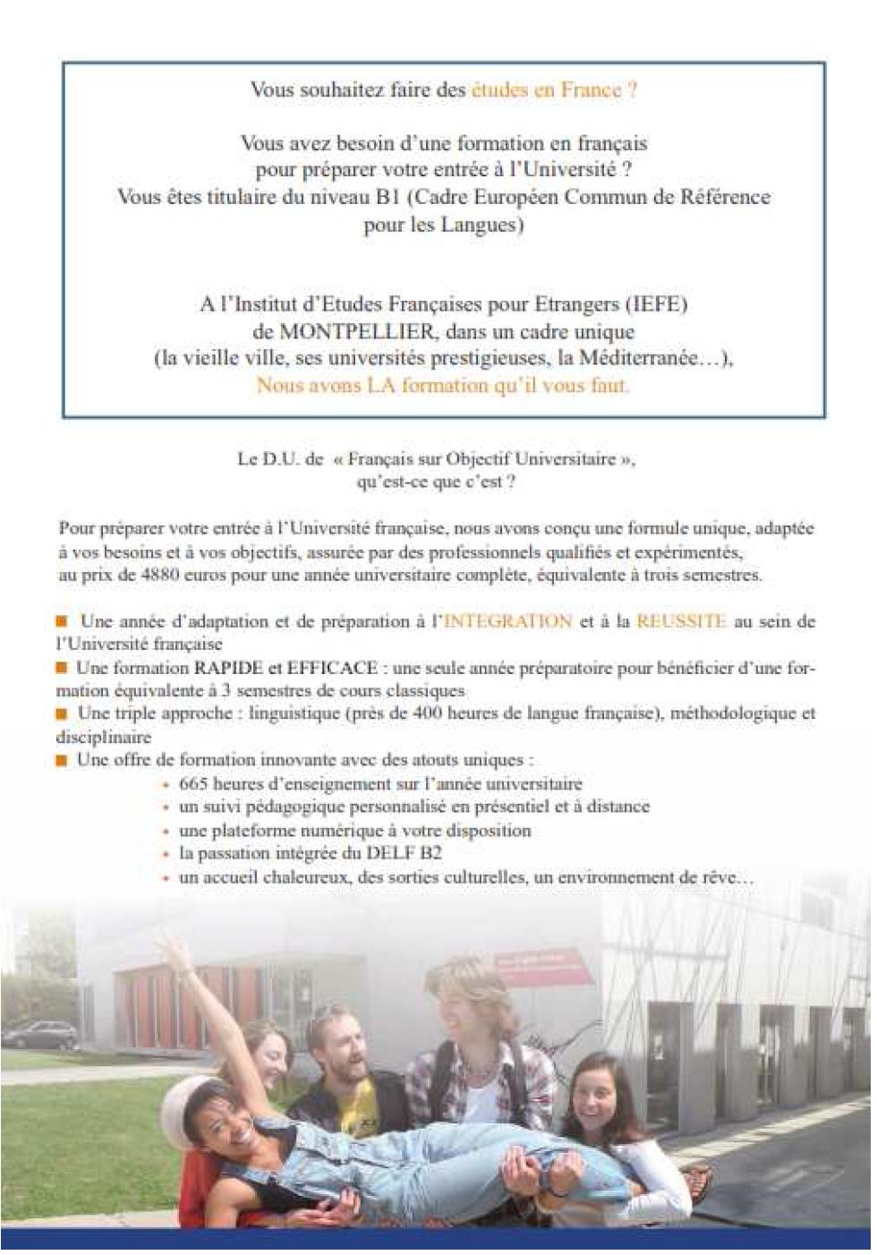 Annexe 1 PRÉPARATION AUX ÉCRITS UNIVERSITAIRES EN FRANÇAIS DES ÉTUDIANTS ÉTRANGERS AVEC UN DISPOSITIF MULTIMÉDIA EN FRANÇAIS SUR OBJECTIF UNIVERSITAIRE