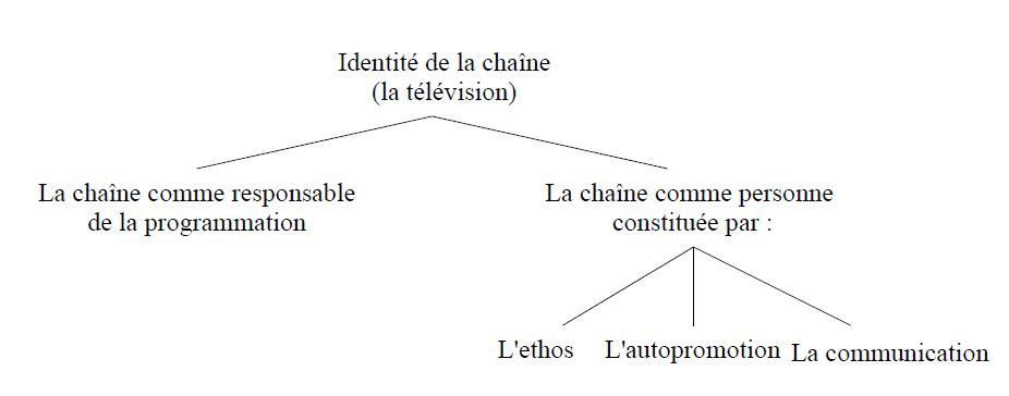 Dessin 1 Schéma des différentes compositions de l'identité d'une chaîne