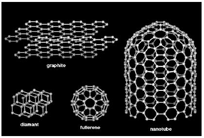 Figure 1 Les formes allotropiques du Carbone