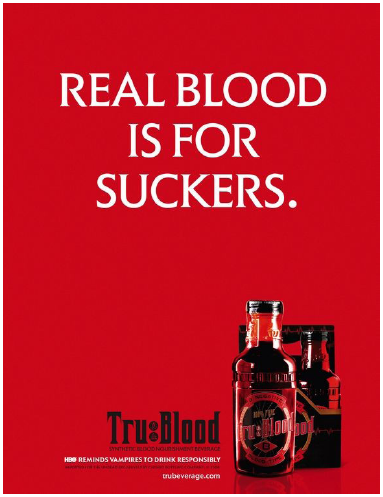 Illustration 13 Affiche pour la boisson Tru Blood Beverage