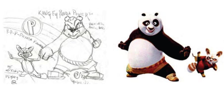 Illustration 14 A gauche, les personnages de Jayme Gordon et à droite ceux de DreamWorks