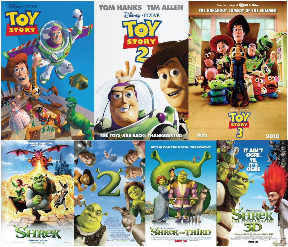 Illustration 18 Shrek, Toy Story et leurs suites