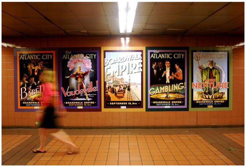 Illustration 3 Campagne d'affichage pour la saison 1 de Boardwalk Empire dans le métro de New York.