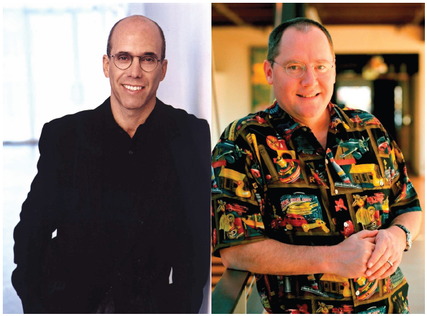 Illustration 6 Jeffrey Katzenberg et John Lasseter, deux personnes très différentes