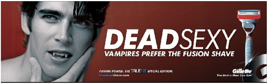 Illustration 6 Publicité Gillette et HBO pour la campagne True Blood