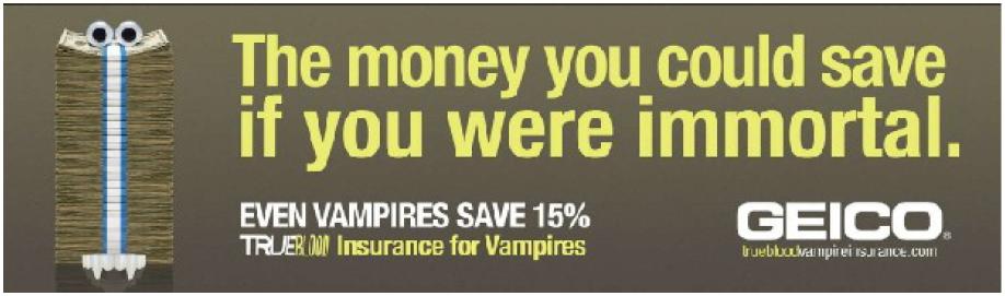 Illustration 8 Publicité Geico et HBO pour la campagne True Blood