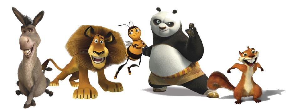 Illustration 8 Quelques uns des animaux parlant de DreamWorks