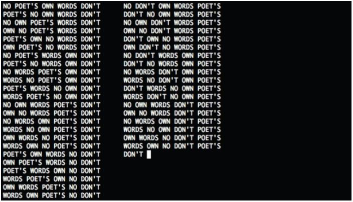 Exemple Permutation par informatique de Gysin