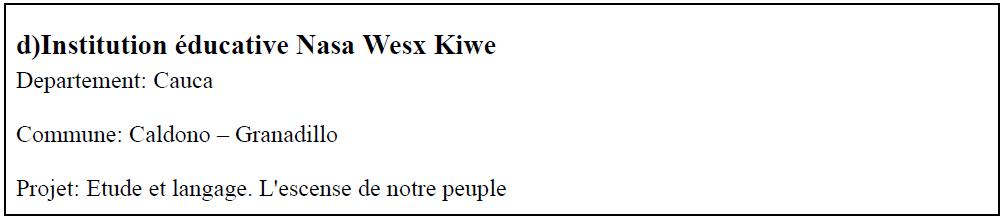 Institution éducative Nasa Wesx Kiwe