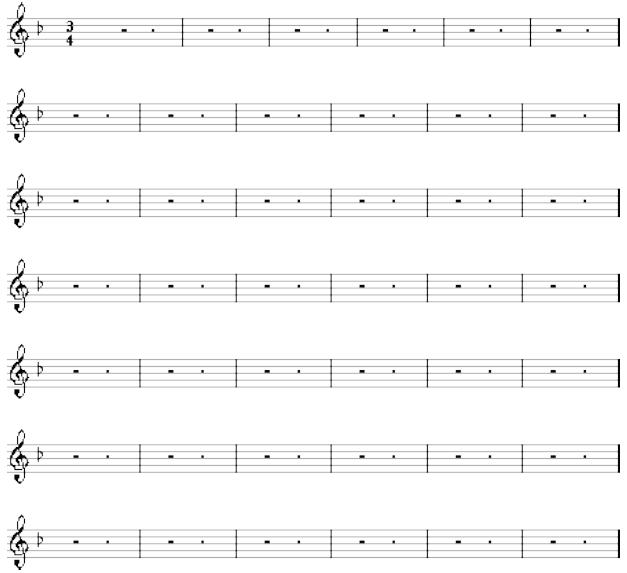 John Cage Partition de '4'33'(1952)