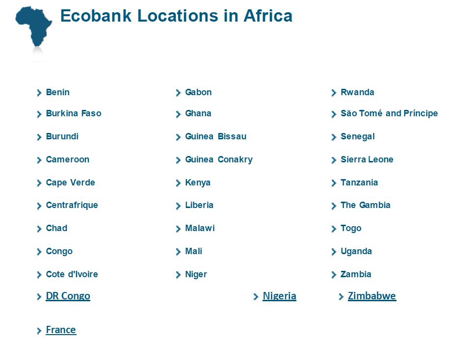 Ecobank presence
