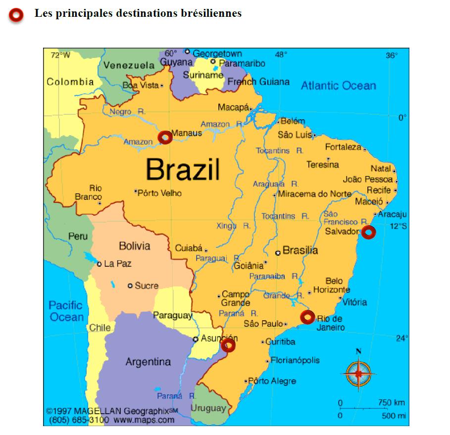 Plan du Brésil capital