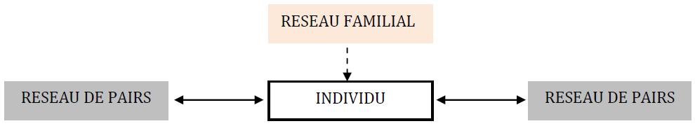 Schéma d'une transmission majoritairement verticale, horizontale