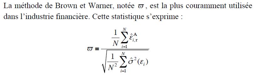 méthode de Brown et Warner
