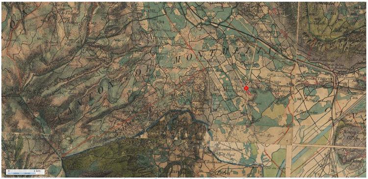 Carte d'Etat-major en couleurs, site internet géoportail